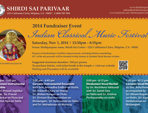 Indian Classical Music Festival – Fundraiser Event 2014